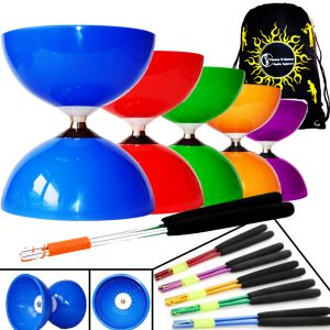 Large Big Top Bearing Clutch Diabolo Sticks and Bag