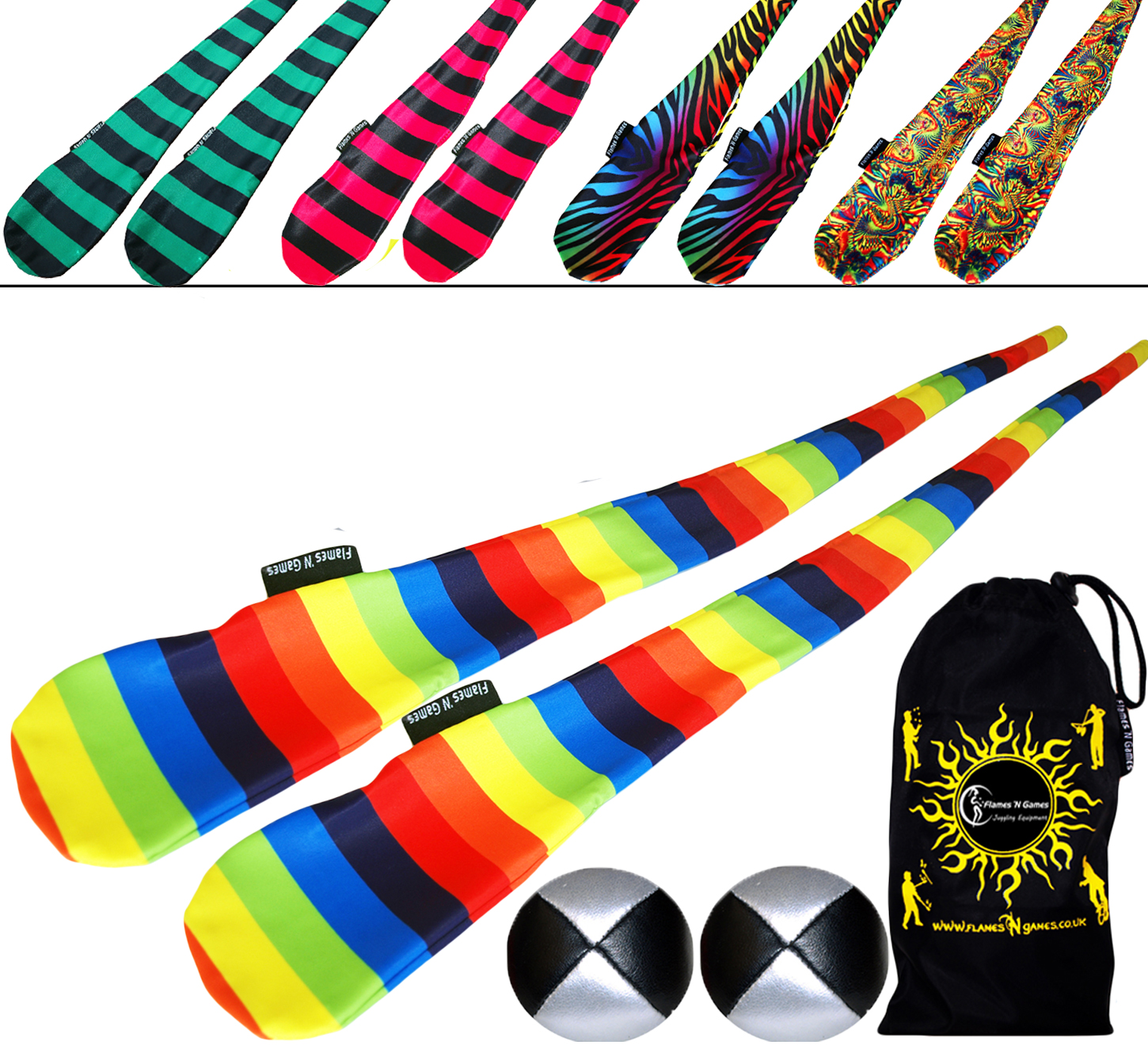 Quality FUNKY Sock Poi Ball and Bag Sets