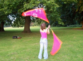 Great Quality Flag Angel Wing Fabric Poi Play