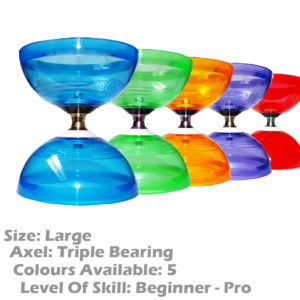 Large and Fast Juggle Dream Hurricane Bearing Clutch Diabolo