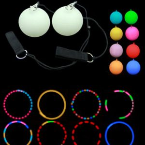 Beautifully bright Multi Function LED Glow Poi from Flames N Games