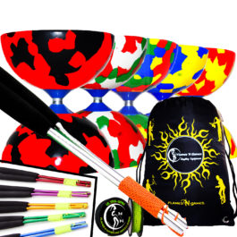 Excellent budget Juggle Dream Jester Fixed Diabolo String Sticks and Bag Set