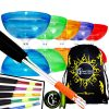 Semi Transparent Juggle Dream Typhoon Fixed Axle Diabolo Sticks String and Bag Set