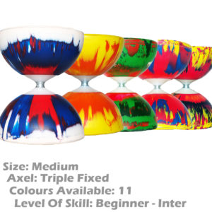 Highly Colourful Radiant Fixed Axle Diabolos