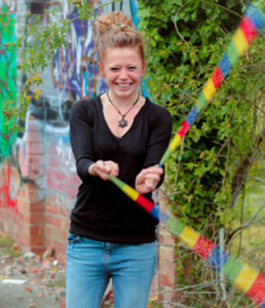 Great Multi Coloured Sock Poi from Flames N Games 4