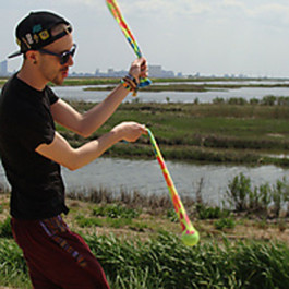 Great Multi Coloured Sock Poi from Flames N Games 7
