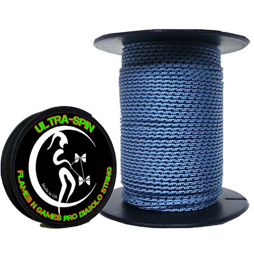 Quality Ultra Spin Diabolo String 100m Blue