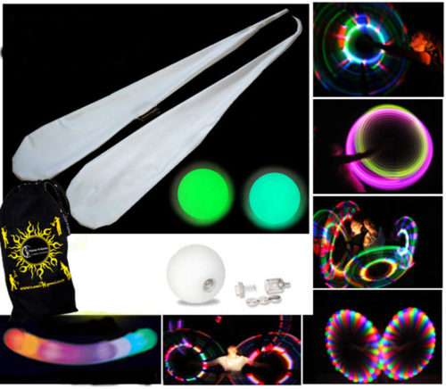 Really Bright LED Glow Sock Poi from Flames N Games