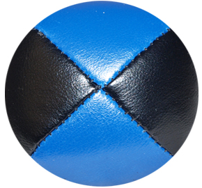 Black/Blue - Leather Pro Thud Juggling Balls - 110g