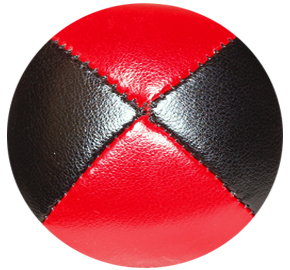 Black/Red - Leather Pro Thud Juggling Balls - 110g