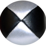 Black/Silver - Leather Pro Thud Juggling Balls - 110g