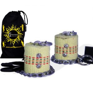 Superb Quality Beginners Fire Poi 2x45mm Wick Fire Poi Set And Bag