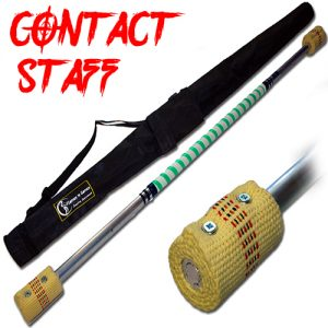 Quality Made Contact Fire Staff 2x65mm Wick And Travel Bag