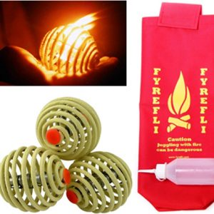 Fyrefli Fire Juggling Balls Set of 3 (68mm) & Bag