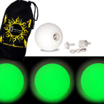 Green - FNG LED Glow Juggling balls + Bag (Set of 3)