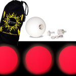 Red - FNG LED Glow Juggling balls + Bag (Set of 3)
