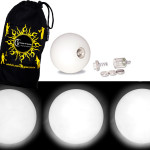 White - FNG LED Glow Juggling balls + Bag (Set of 3)