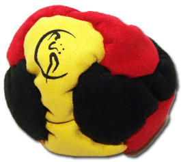 Black-Red-Yellow Footbags AKA Hacky Sacks - 6 Panel