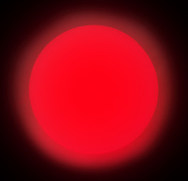 Red - LED Glow Juggling Ball