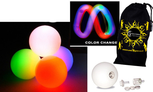 Slow Fade - FNG LED Glow Juggling balls + Bag (Set of 3)