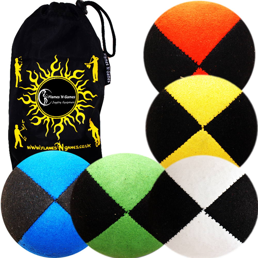 Suede Thud Juggling Balls Beanbags - Pro Thud Juggling Balls (Suede)