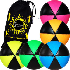 Pro UV Thud Juggling Balls - 6 Panel