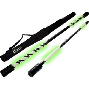 Handmade Glow in the Dark Straight and Spiral Practice Staffs with Travel Bag