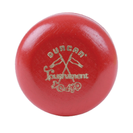 Duncan Wooden Crossed Flags Tournament Yo-Yo Red