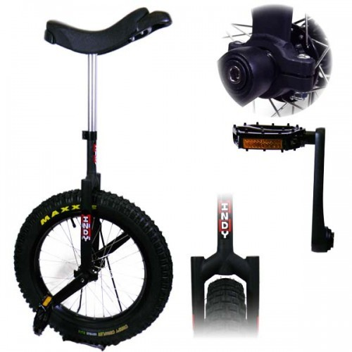 """Black - Indy Trials Unicycle - 19"""" Unicycle"""