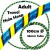 Hula Hoop Adult Weighted Travel Hula Hoops Black Blue Glitter Yellow