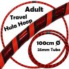 Hula Hoop Adult Weighted Travel Hula Hoops Black Red Glitter Orange