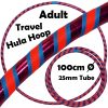 Hula Hoop Adult Weighted Travel Hula Hoops Blue Purple Glitter Orange