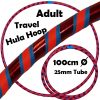 Hula Hoop Adult Weighted Travel Hula Hoops Blue Red Glitter Orange