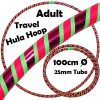 Hula Hoop Adult Weighted Travel Hula Hoops Green Red Glitter Pink