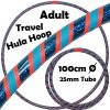 Hula Hoop Adult Weighted Travel Hula Hoops Orange Blue Glitter Blue