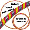 Hula Hoop Adult Weighted Travel Hula Hoops Pink Silver Glitter Yellow