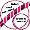 Hula Hoop Adult Weighted Travel Hula Hoops White Pink Glitter Pink