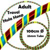 Hula Hoop Adult Weighted Travel Hula Hoops Yellow Red Glitter Blue