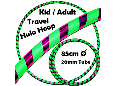 Grip/Glitter Deco) 85cm / 20mm - Purple / UV Green