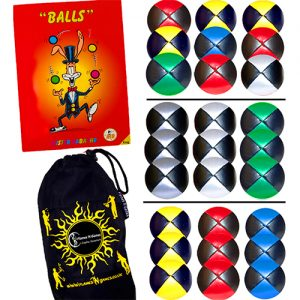 Juggling Balls - Juggling Ball Sets of 3 - Pro Leather Thud Juggle Balls