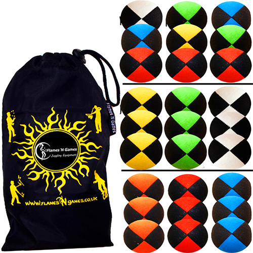 Pro-Thud-Juggling-Balls-Suede-Juggling-Ball-Set-of-3-Bag