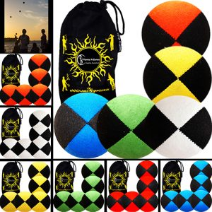 Suede-Pro-Thud-Juggling-Balls-Set-of-5-+-Bag-Mix.