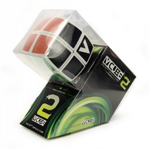 V-Cube 2x2x2 Pillow Edition Puzzle Cube Side Angle View Packaged