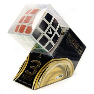 V-Cube 3x3x3 Pillow Edition Puzzle Cube Side Angle View Packaged