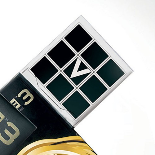 V-Cube 3x3x3 Straight Edition Puzzle Cube Side View Package Close Up