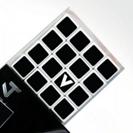 V-Cube 4x4x4 Straight Edition Puzzle Cube Side Package Close Up