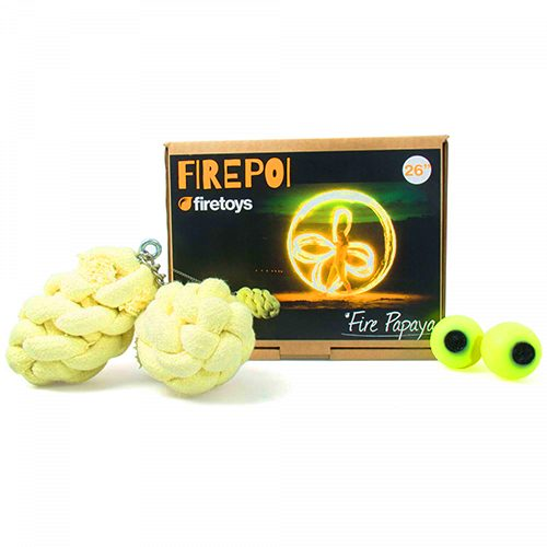 Exquisitly made FireToys The Fire Papaya Fire Poi 66CM Complete