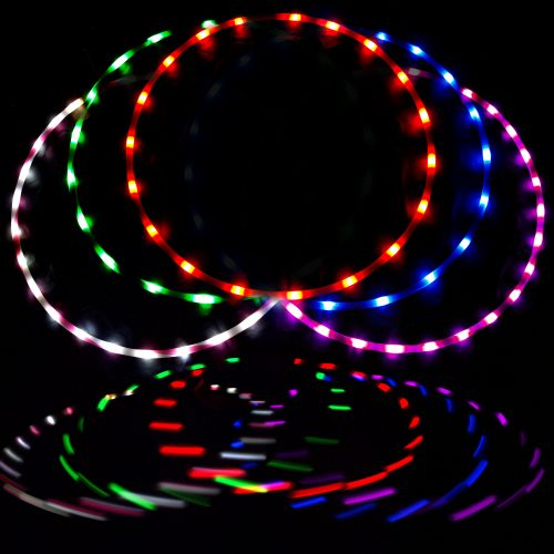 Blue Terrific Value Fitness Equipment & Gear Creative More Mile Weighted 1.2kg Hula Hoop Fitness, Running & Yoga