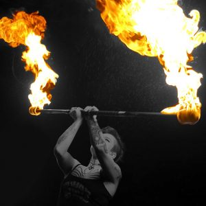 Fire Staff Spinning